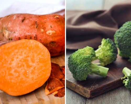 Dehydrated Veggie Options - Sweet Potatoes (High in Vitamin A) and Broccoli (High in Vitamin C)
