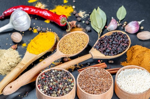 Variety of Spices and Seasonings